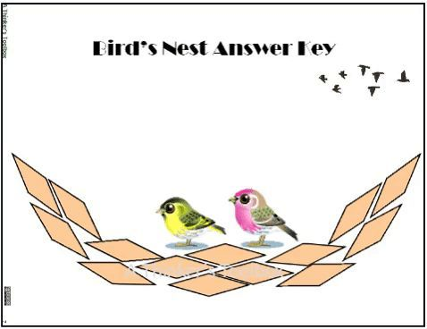 Birds Nest Pattern Block Puzzles #animal