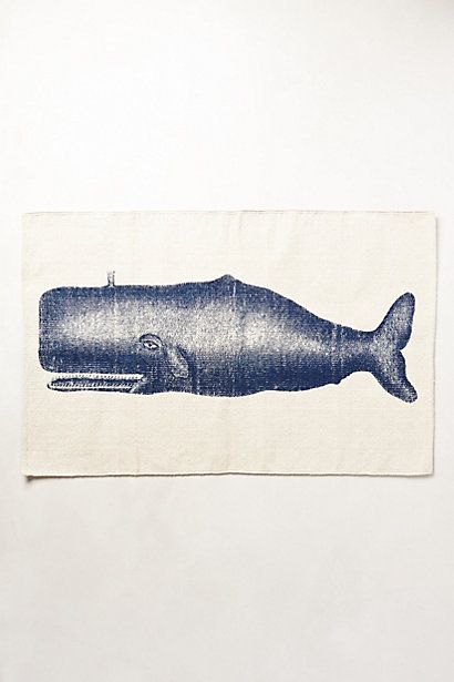 victorian whale (moby dick!) bathmat #anthrofaves