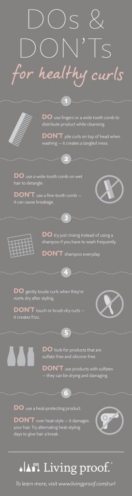 infographic- dos and don'ts of curly hair