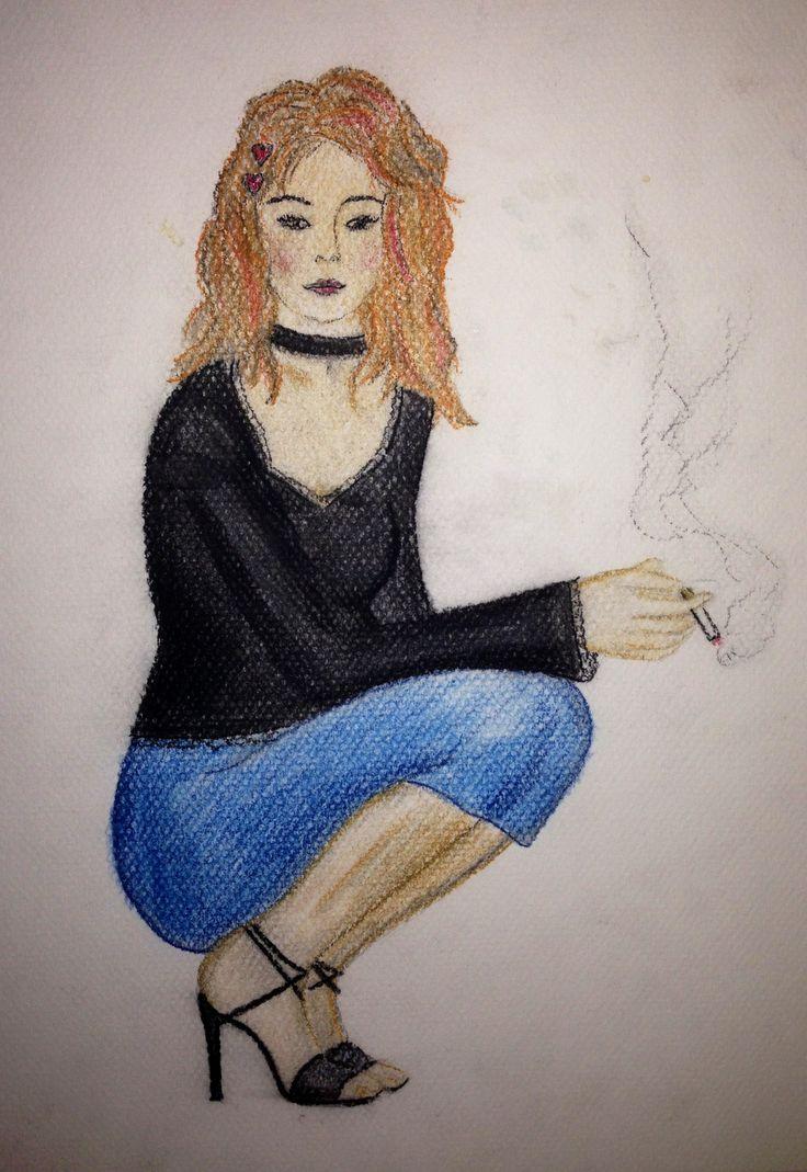 Skiss med akvarellpennor