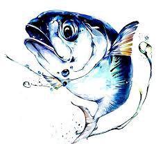 입시 물고기 채색