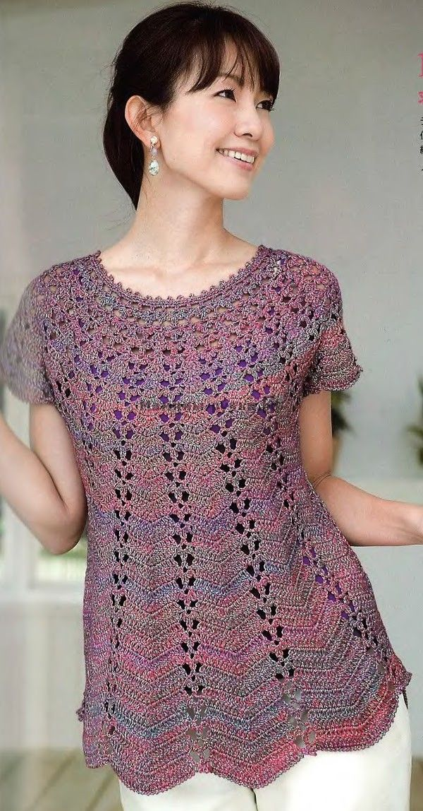 Туника вязаная крючком (tunic crochet)