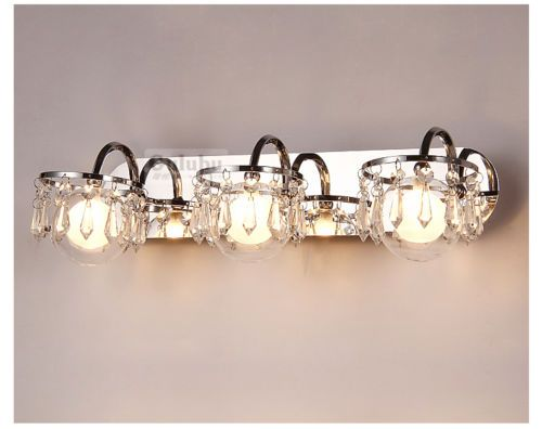 Bathroom Light Fixtures Ebay modern luxury crystal glass ball bathroom wall lights mirror front
