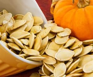 Zinc is an important mineral for sex drive, and without enough zinc in our diets libido will drop off dramatically. Zinc is important for testosterone production in men, and helps sustain sexual desire in women. Pumpkin and squash seeds are a great, healthy source of zinc and they also contain the added bonus of being high in those omega 3 fatty acids, too. That means you're getting a one-two punch of libido-boosting benefits. Read more: http://www.veria.com