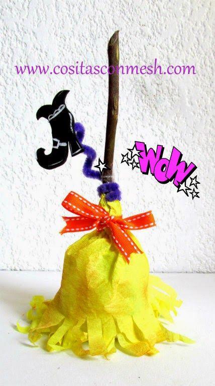 Dulcero Halloween con papel crepe ~ cositasconmesh