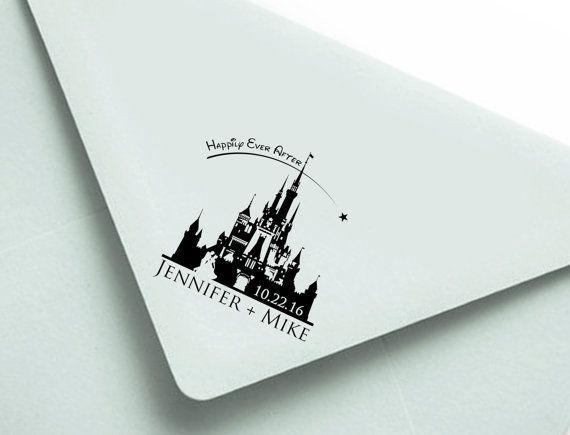 Personalized Stamp: 2.5x2.5 Disney Wedding by MineByDesignStudio