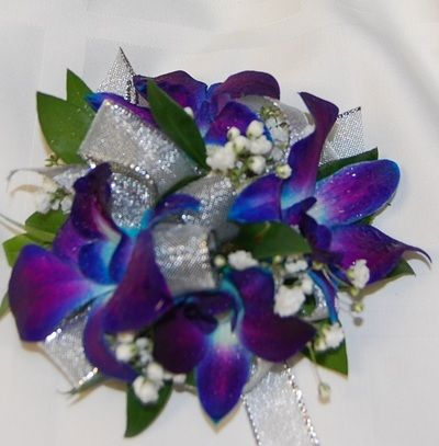 Flowers for the Women - Weddings by Monday Morning Flowers Blue orchids