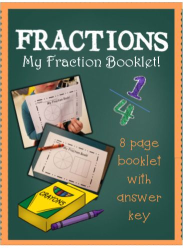 My Fraction Booklet. Naming fractions.