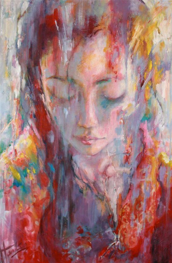 "Saatchi Art Artist Evelyn Hamilton; Painting, ""Chang, daughter of Lin"" #art:"