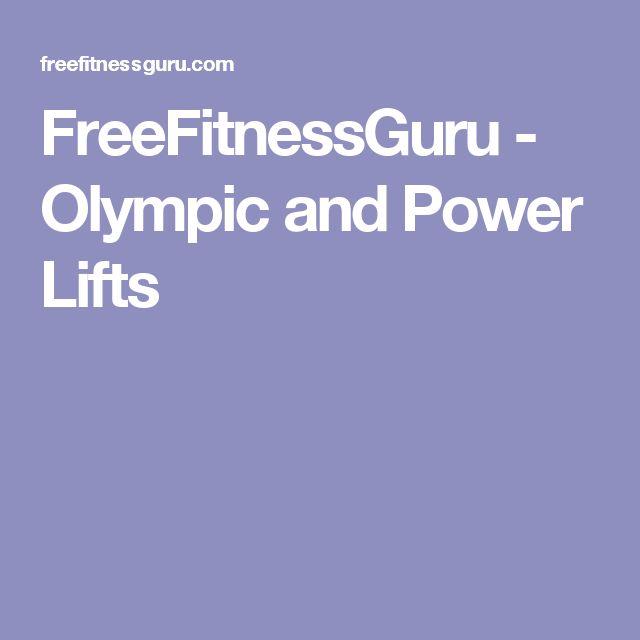 FreeFitnessGuru - Olympic and Power Lifts