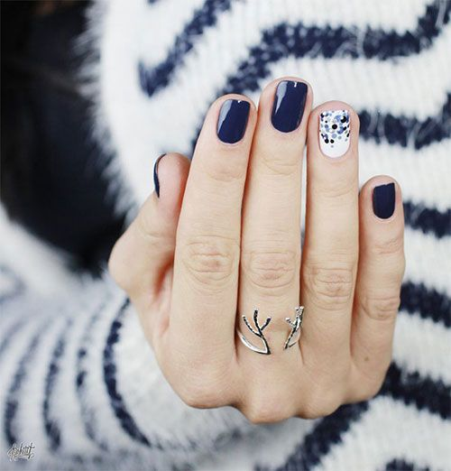Blue Winter Nail Art Designs, Ideas, Trends, and Stickers 2015 from fabnailartdesigns.com