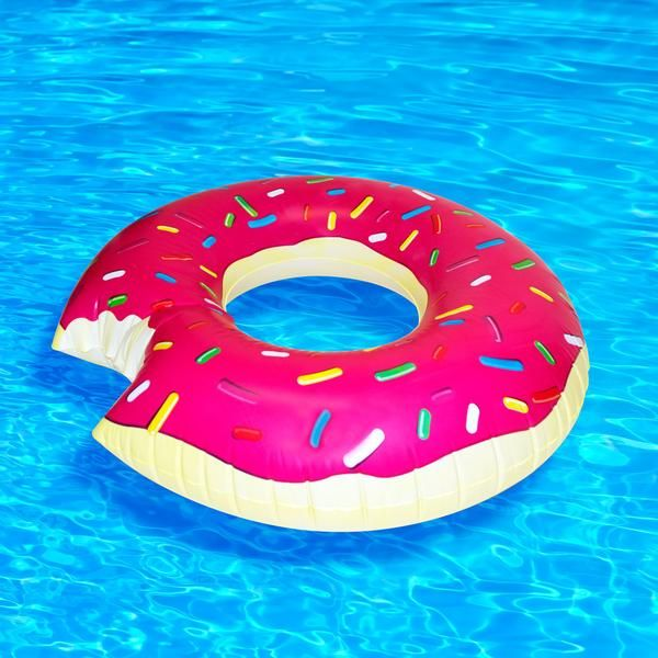 """""""Need some sugar in your life? Sinfully delicious and super realistic, this inflatable donutisall the fun with none of the calorie-guilt. All aboard!"""""""