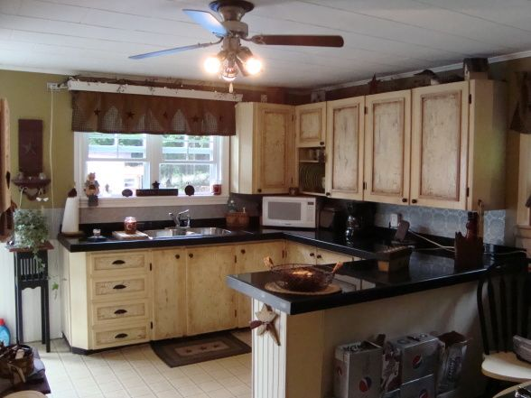 COUNTRY KITCHEN MAKEOVER ON A BUDGET, SIMPLY COUNTRY PRIMITIVE KITCHEN  MAKEOVER, AFTER RENO,
