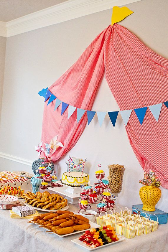 Custom Circus or Carnival Printable Party Package by OllieAndLulu