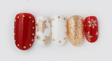 Japanese nail art gel xmas and golden star by ohimenail on Etsy, $14.00