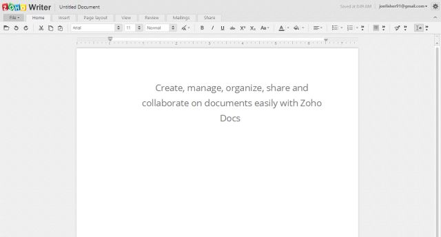 The 7 Best Free Online Word Processors: Zoho Writer