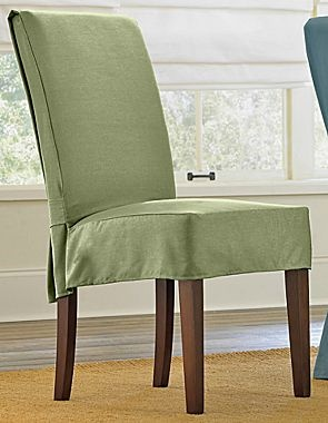 Cotton Duck Short Chair Slipcovers, Jcpenney Dining Room Chair Covers