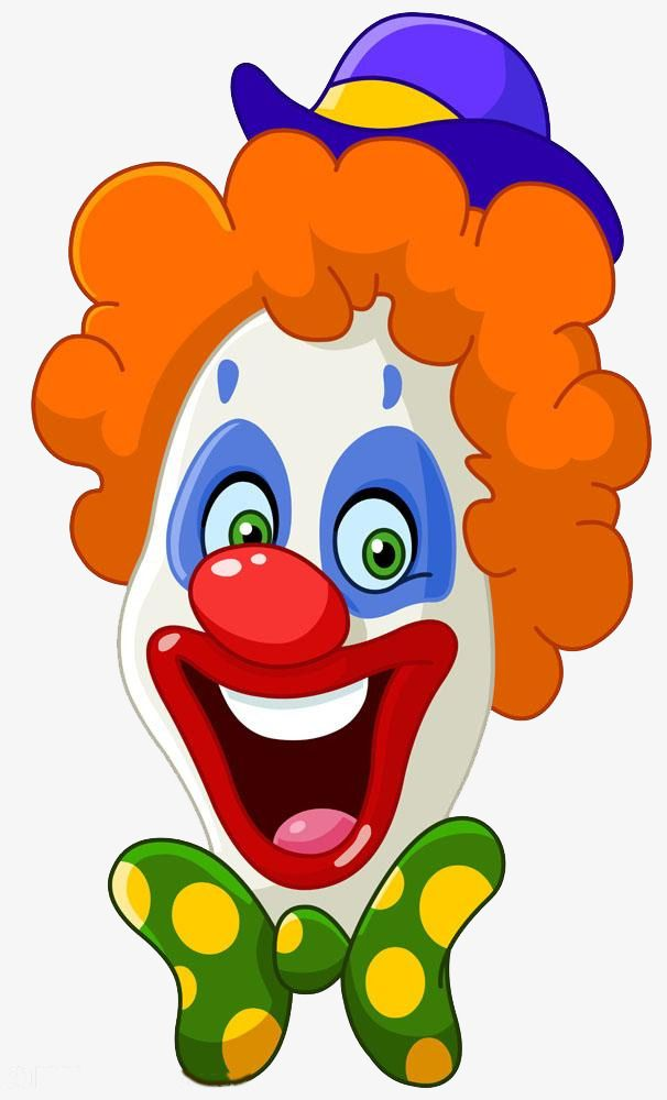 Funny Cartoon Clown Cartoon Clipart Clown Clipart Cartoon Png And Vector With Transparent Background For Free Download Clown Images Clown Faces Clowns Funny