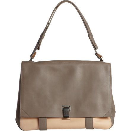 Proenza Schouler PS Large Courier Shoulder Bag Double-Sided Leather at Barneys.com