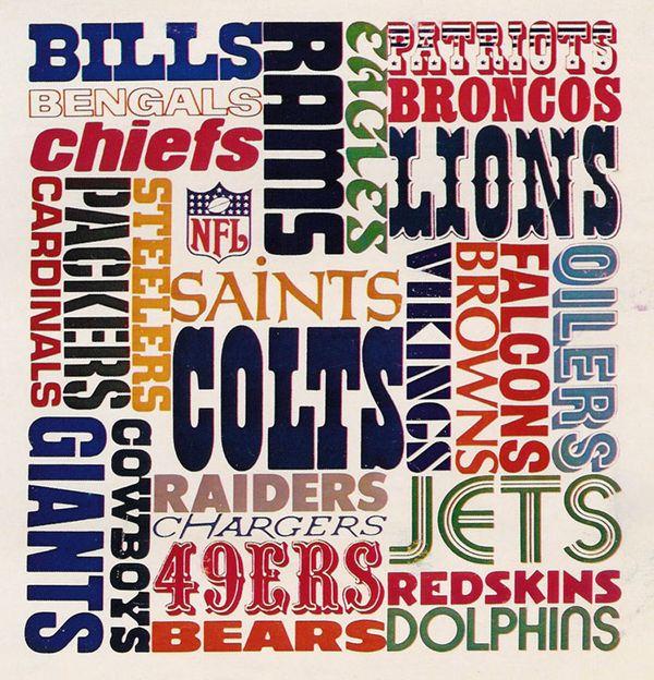 NFL Teams Typography