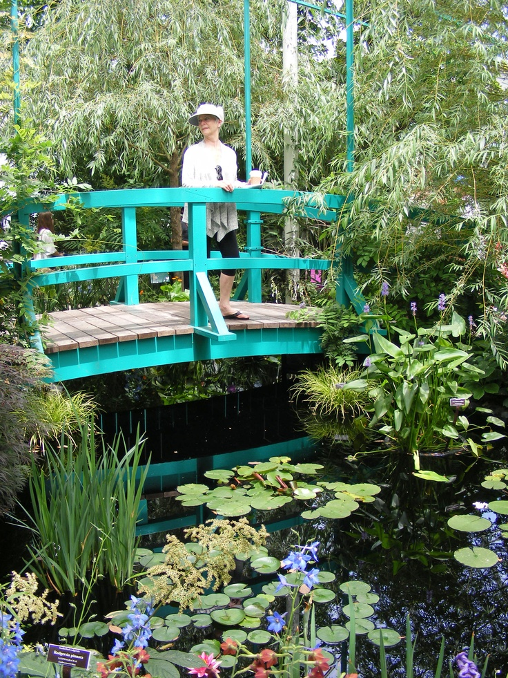 Sheila On The Monet Bridge At The Bronx Botanical Gardens Exhibit Of Monet Botanical Gardens