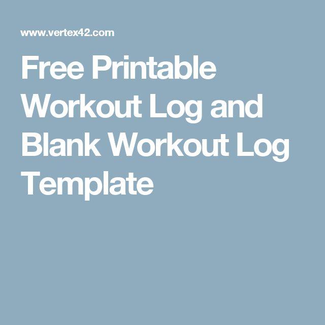 As 25 melhores ideias de Workout log book no Pinterest - exercise log template