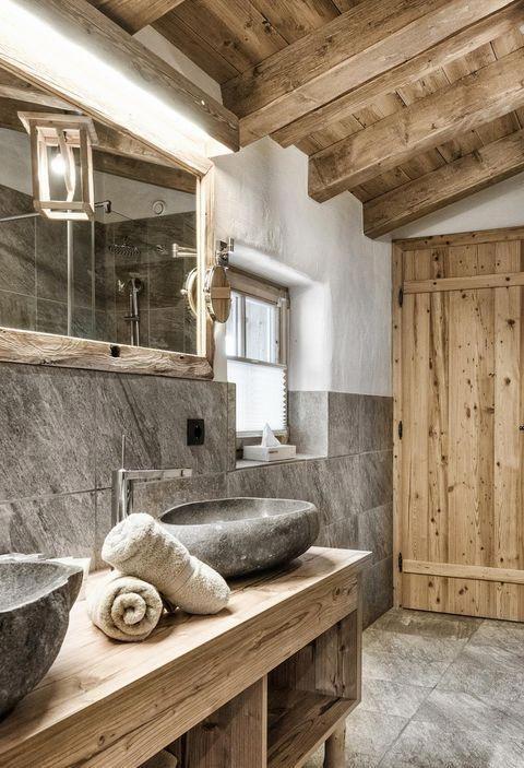 Adler Chalet im Hüttendorf Ladizium in Ladis #bathroomremodel