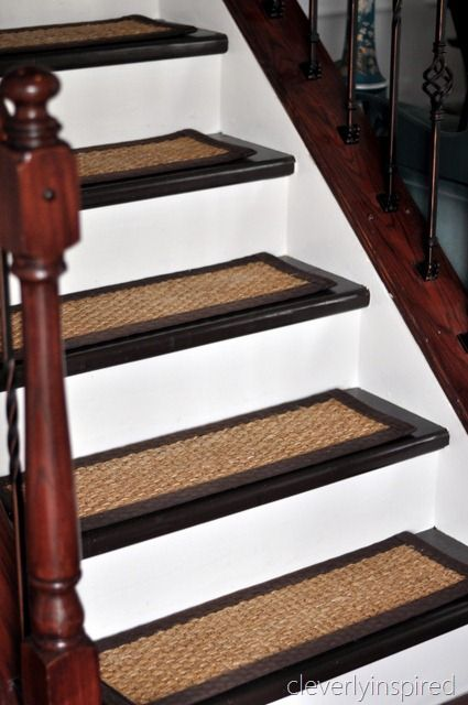black painted stair tread this would be great and save me. Black Bedroom Furniture Sets. Home Design Ideas