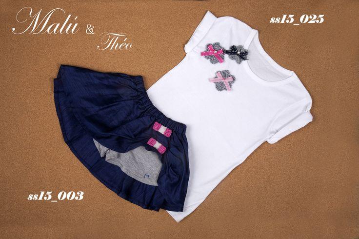 Silk skirt with handmade T-shirt
