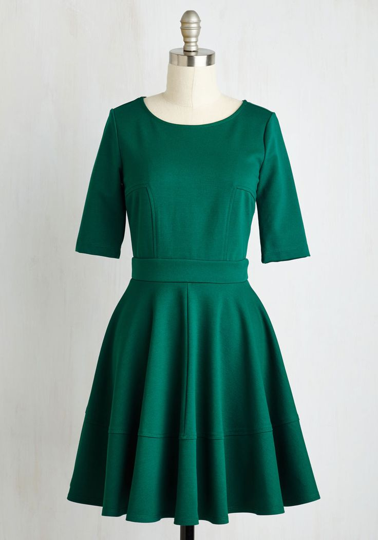 Dote Worry About It Dress in Emerald. Treating loved ones to special occasions feels even merrier in this emerald green dress! #green #modcloth