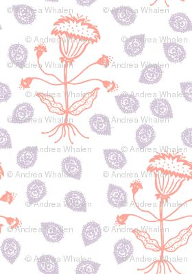 Jaipur in lilac and coral