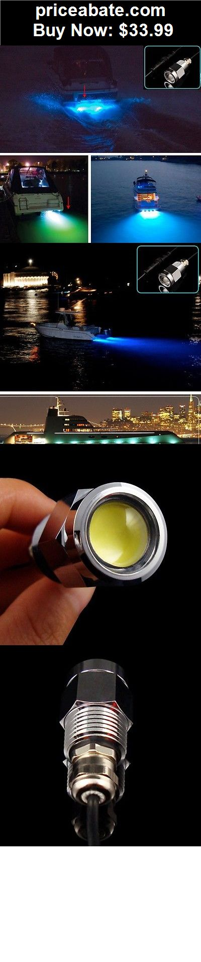 "Boat-Parts: Blue 6 led 1/2"" NPT Underwater Boat Drain Plug Light with connector for fishing - BUY IT NOW ONLY $33.99"
