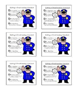 EDITING AND PROOFREADING CHECKLIST - COPS - TeachersPayTeachers.com