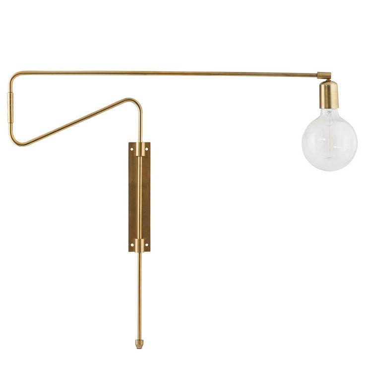Swing Vägglampa 70cm, Mässing - House Doctor - House Doctor - RoyalDesign.se