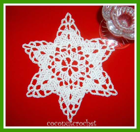 Snowflake Doily by coconutcrochet on Etsy