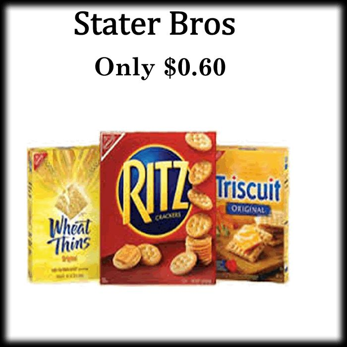 I don't know about your family but mine has to have Ritz on hand! - http://dealmama.com/2017/07/stater-bros-nabisco-snack-crackers-1-02/