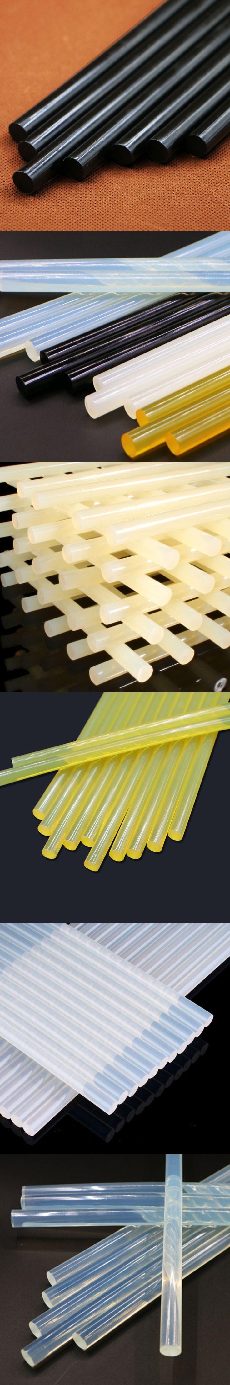 10Pcs/Set 7mm/11mm*270mm Hot Melt Adhesive Hot Melt Glue Sticks 4 Colors for Glue Gun High Viscosity Hot Glue Glue Bar