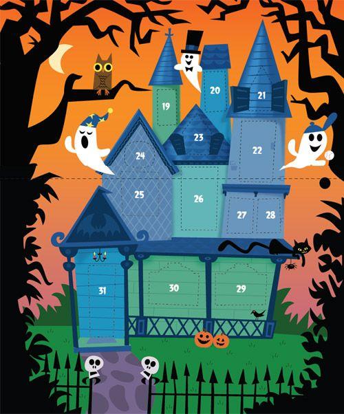 halloween advent calendar pottery barn
