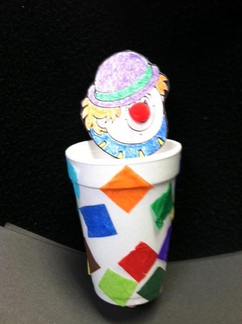 Pop-up Clown in a cup craft!
