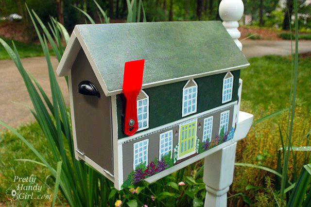Feeling artsy? This cute DIY transforms your mailbox into a miniature version of your house.   Get the tutorial at Pretty Handy Girl.