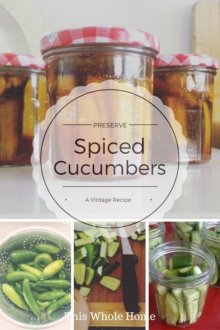 Spiced Cucumber Preserve