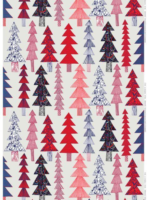Kuusikossa fabric by Marimekko (design by Maija Louekari).