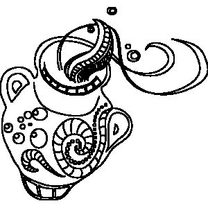 ornate aquarius zodiac coloring page