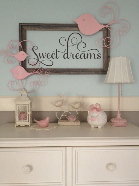 Sweet Dreams Nursery Vinyl Wall Decal By Thedecalgirl On