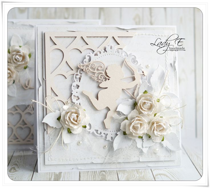 Scrap Art by Lady E: Valentine's day in white / Walentynki na biało