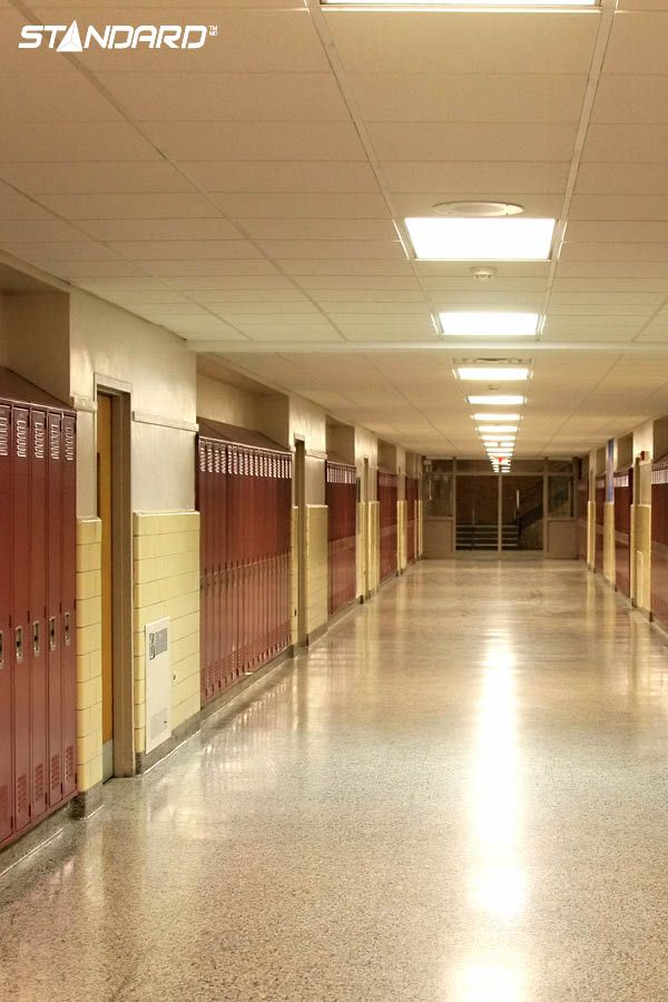 Most institutional buildings are subject to budget considerations and are sensitive to energy consumption. There are many benefits to retrofitting schools and hospitals; converting to new lighting technologies can help these institutions control their expenses.  #StandardProducts #Lighting #School