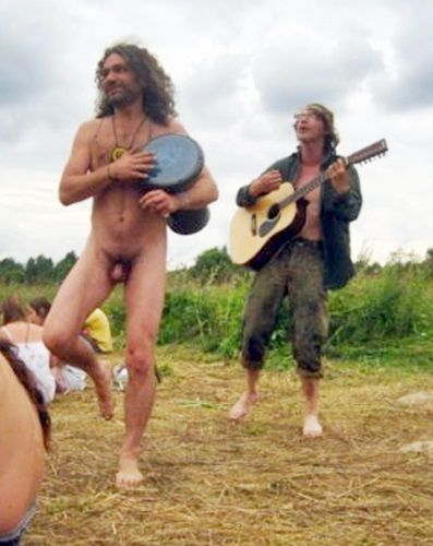 vintage nude male hippies