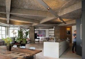 Waanzinnig appartement met stoere betonnen balken in hartje Londen