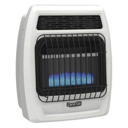 Dyna-Glo BFSS10LPT-2P 10,000 BTU Liquid Propane Blue Flame Vent Free Thermostatic Wall Heater, White