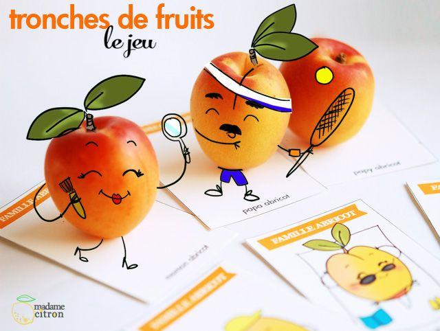 DIY : Tronches de fruits, le jeu de 7 familles imprimable (LES ABRICOTS)